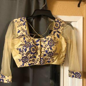 Brand new saree blouse/crop top